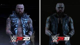 WWE 2K20 vs WWE 2K19: Aleister Black Entrance Comparison (Official Entrance)