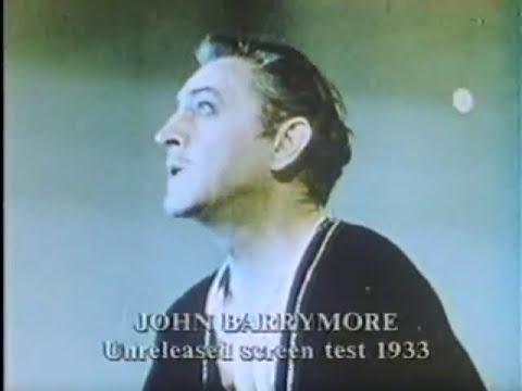 John Barrymore Screen Test for Hamlet (1933)