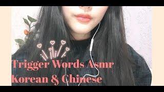 ASMR | 트리거 워드 Trigger Words 中文单词 💖 속삭임 Whispering 💖 한국어&中文 Korean& Chinese 💖 Close up Ear-to-ear