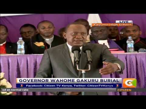 Pres. Kenyatta condoles with people of Nyeri at Late Governor Gakuru funeral