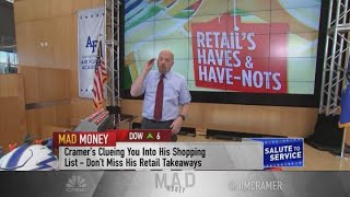 Jim Cramer: Go shopping and buy the stocks of discount retailers TJX, Ross and Burlington Stores