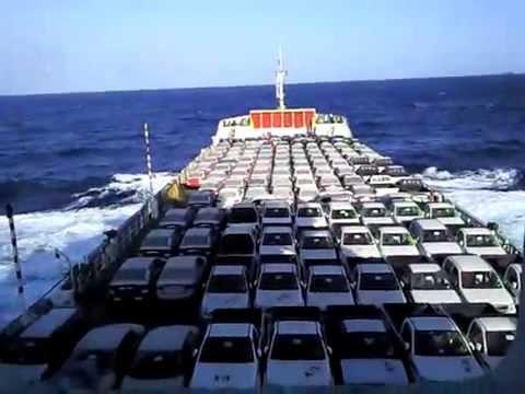 overloaded Ro/ro ship
