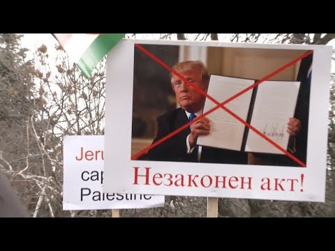 Group Stages Peaceful Protest against Trump's Jerusalem Decision in Sofia