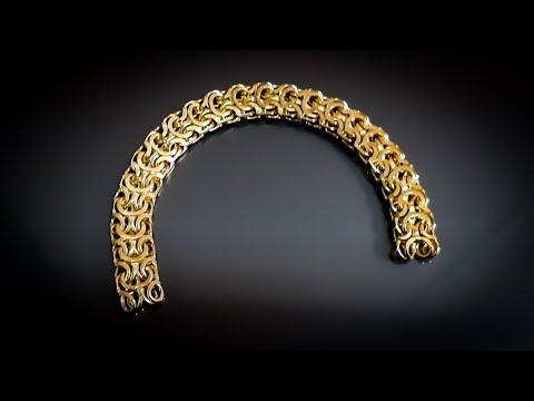 """Изготовления браслета """"Рамзес"""" из золота 750 пробы"""