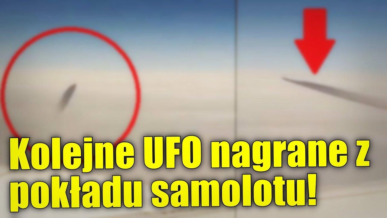 Zmiennokształtne UFO zostało nagrane z pokładu odrzutowca!