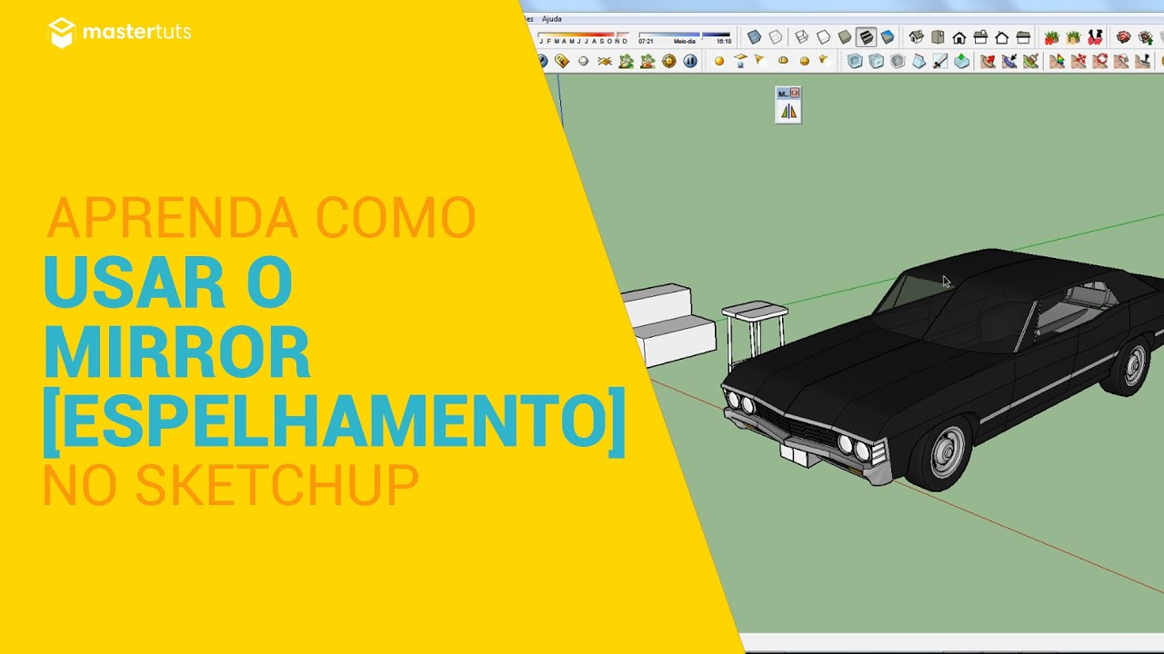 Sketchup como usar o mirror no sketchup youtube for Mirror in sketchup