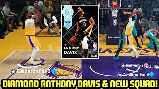 DIAMOND ANTHONY DAVIS + NEW GODSQUAD! BUZZER BEATER?! NBA 2K18 MYTEAM ONLINE GAMEPLAY