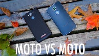 Motorola DROID Turbo vs Moto X (2014): Ballistic Nylon against Horween Leather