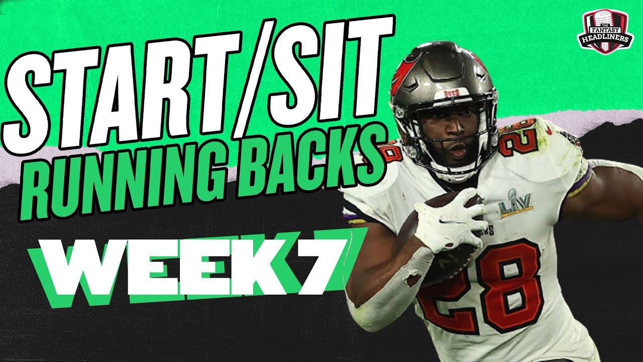 Download 2021 Fantasy Football - MUST Start or Sit Week 7 Running Backs -  Every Match Up!!!