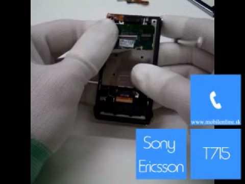 Výmena: LCD displej Sony Ericsson T715 , Sony Ericsson T715 disassembly