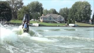 Epic fail: Man attempts to super flip a jet ski