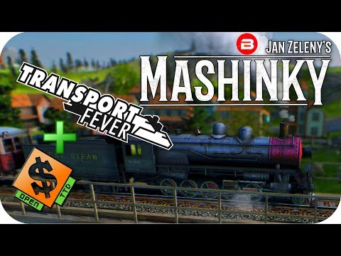MASHINKY Gameplay - TRANSPORT FEVER & OPEN TTD had a BABY!! - Tycoon Trains Simulator/Strategy #1
