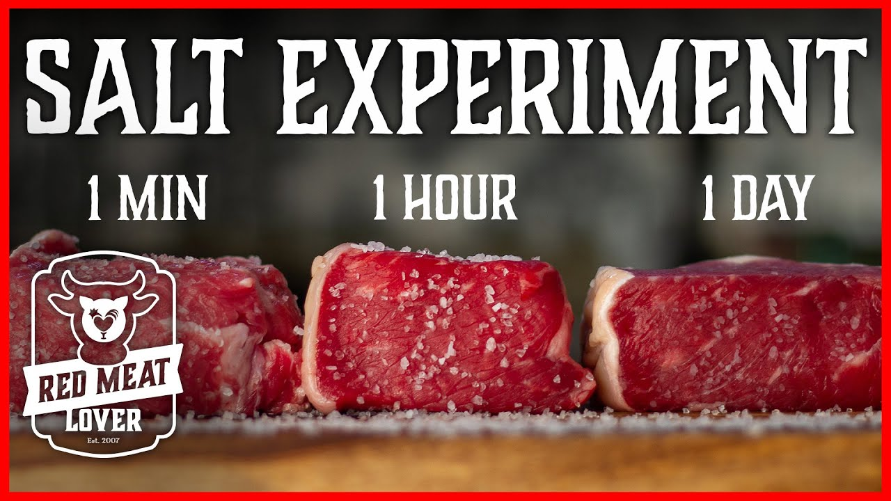 How To Season Steak Experiment When To Salt Your Steaks Incredible Youtube