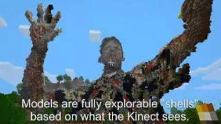 Minecraft + Kinect : Building Worlds!