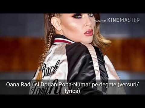 Oana Radu si Dorian Popa-Numar pe degete (versuri/lyrics)