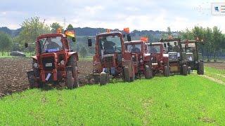 Pflügen mit alten Traktoren Maßnitz - 2/3 plowing with historic Tractor