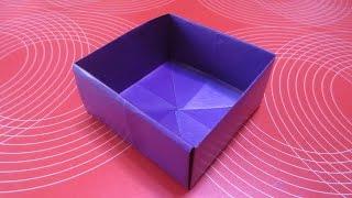 Как сделать коробочку из бумаги своими руками! оригами коробочка.(Новый канал ОРИГАМИ МАСТЕР- https://www.youtube.com/channel/UCNsNXYEU62inFHvVMPE6lCg Как сделать и собрать из бумаги бумажную, картон..., 2014-10-16T08:37:00.000Z)