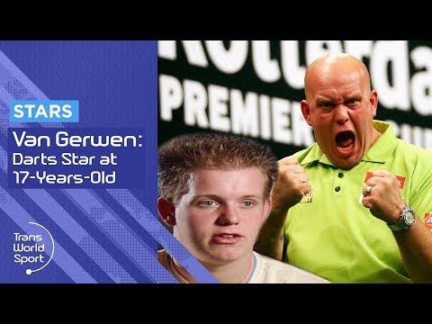 Darts star Michael Van Gerwen as a kid on Trans World Sport