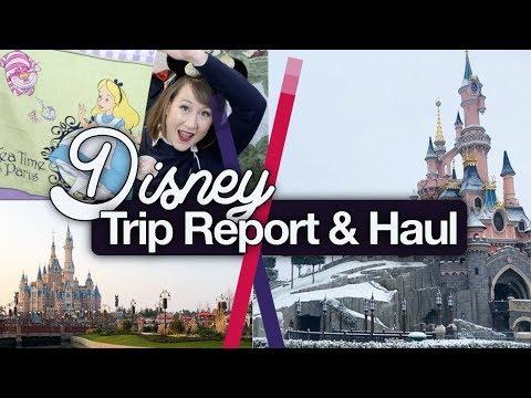 Disney Shanghai & Paris Trip Report and Haul! March 2018
