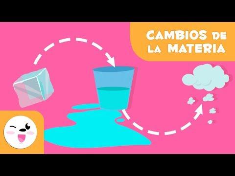Los Cambios En Los Estados De La Materia - Fusión, Vaporización, Condensación Y Solidificación