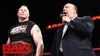 Brock Lesnar will turn Survivor Series' dream match into a nightmare: Raw, Nov. 13, 2017