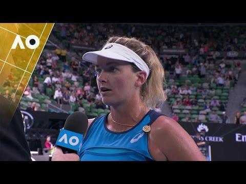 Coco Vandeweghe on court interview (3R) | Australian Open 2017