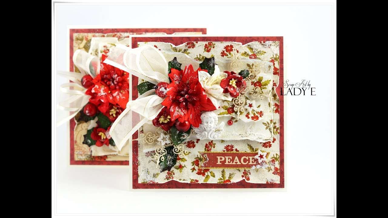 Traditional christmas cards tutorial wild orchid crafts youtube m4hsunfo