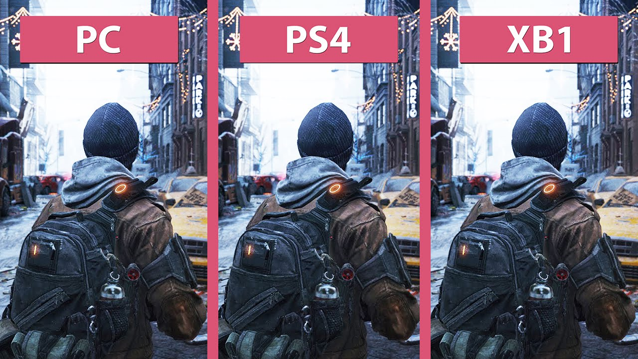 the division � pc vs ps4 vs xbox one graphics comparison
