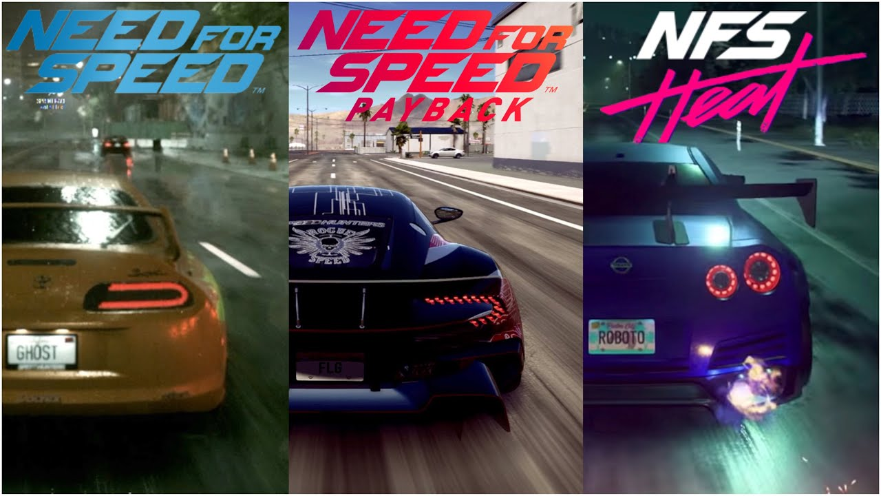 Need For Speed Heat Vs Nfs Payback Vs Nfs 2015 Early
