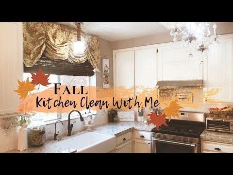 FALL CLEAN AND DECORATE WITH ME 2019   CLEANING MOTIVATION   FARMHOUSE KITCHEN DECOR