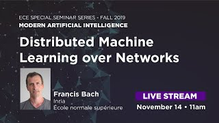 Distributed Machine Learning over Networks