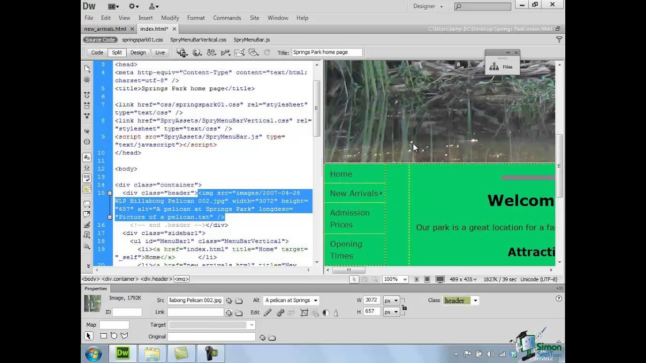 Dreamweaver interactive video tutorials free