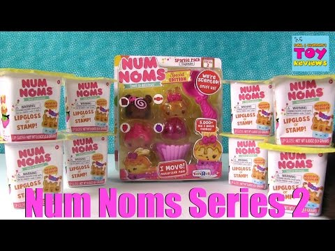 Num Noms Series 2 Sparkle Pack & Blind Bag Stamp Lipgloss Cups Opening   PSToyReviews