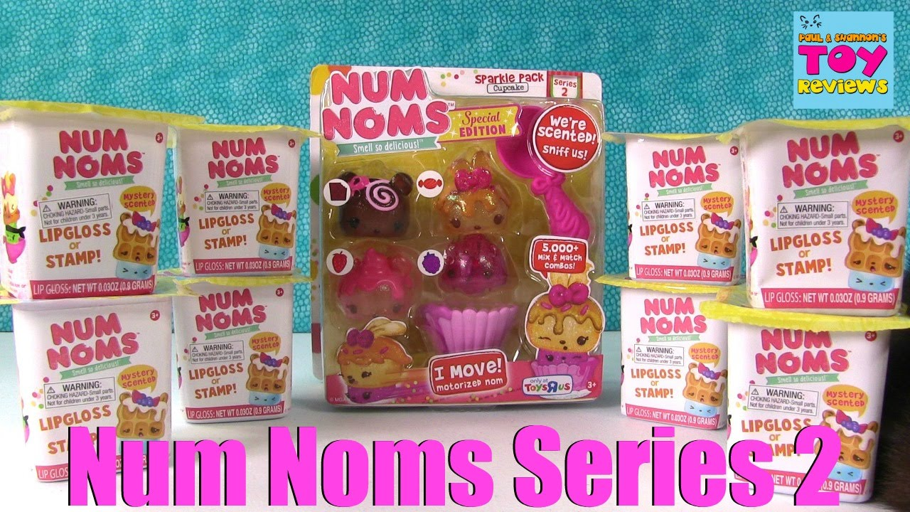 Num Noms Series 2 Sparkle Pack Blind Bag Stamp Lipgloss Cups