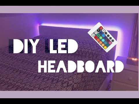DIY | CHEAP AND EASY LED HEADBOARD!!!