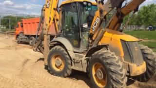 видео Работы по благоустройству территории от компании «Аренда JCB»
