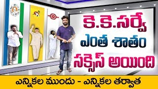 KK Surveys & Strategies Kiran Compares his Survey Report Before and After AP Election Results 2019