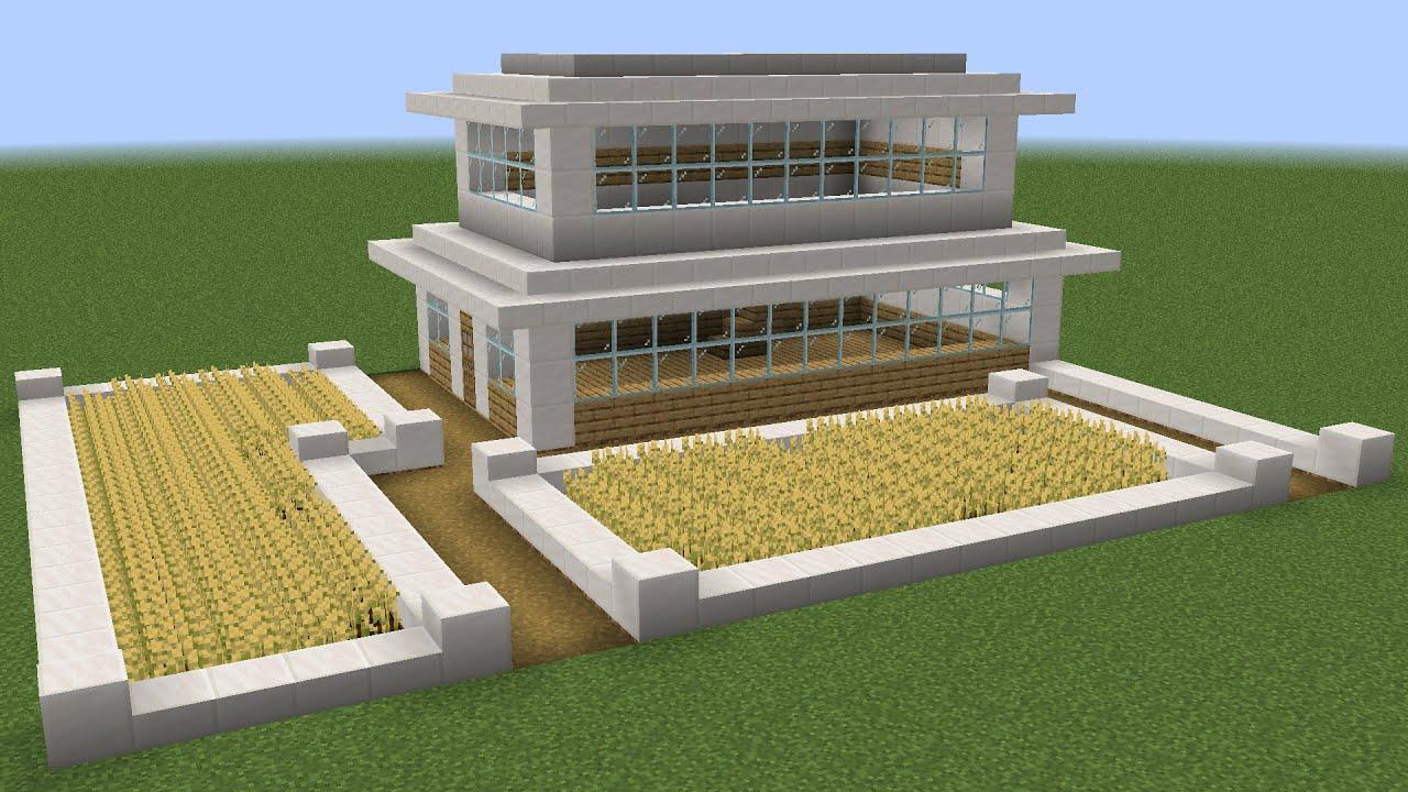Minecraft How To Build A Modern Farm Youtube