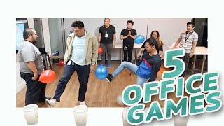 5 FUN PARTY GAMES AT WORK • Part 3 🎲   Minute To Win It Style