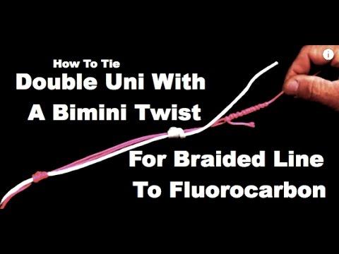 How to tie double uni knot using a bimini twist saltwater how to tie double uni knot using a bimini twist saltwater experience ccuart Choice Image