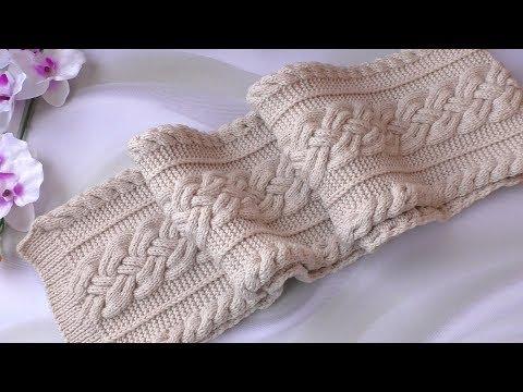 Ажурные шарфы вязаные спицами схемы и описание