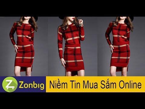 [Zonbig.com] - Set Bộ Áo Phối Váy Len Caro
