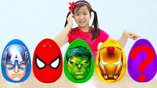 Superheroes Surprise Egg Song | Jannie Sing-Along Nursery Rhymes Song for Kids
