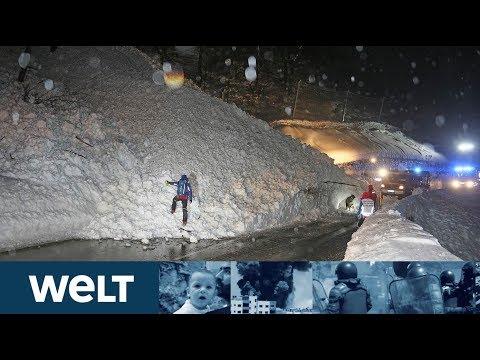 SCHNEECHAOS: Lawinenabgänge und Straßensperren in der Alpenregion