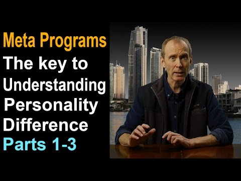 Learn NLP Meta Programs - personality type distinctions. (Parts 1-3)