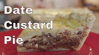 Date Custard Pie Recipe - Legourmettv