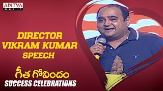 Director Vikram Kumar @ Geetha Govindam Success Celebrations Live || Vijay Devarakonda, Rashmika