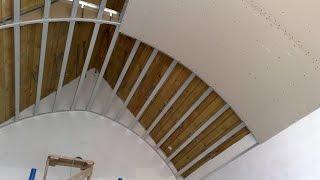 гипсокартонный потолок 2. Купол, монтаж и белый вариант. Gypsum ceiling, all secrets.