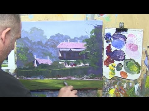 "Learn To Paint TV E22 ""Botanical Gardens Homestead"" Acrylic Painting Tutorial for Beginners"