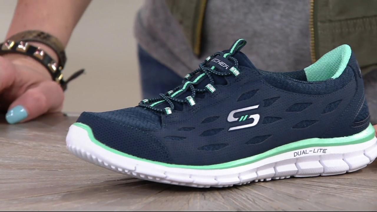 Skechers Mesh Bungee Slip-on Sneakers